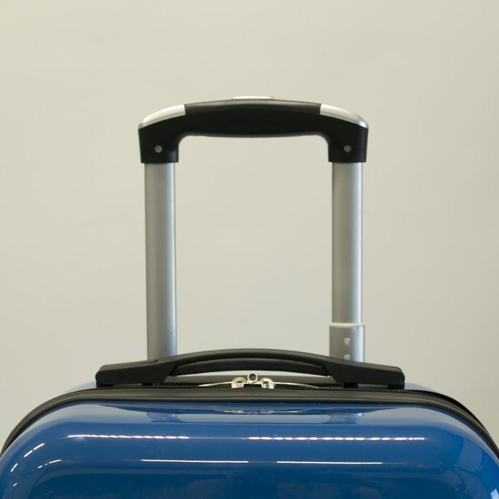"""Чемодан """"Европа"""", малый, 20"""", 40 л, 4 колеса, кодовый замок, цвет голубой - фото 1058105"""