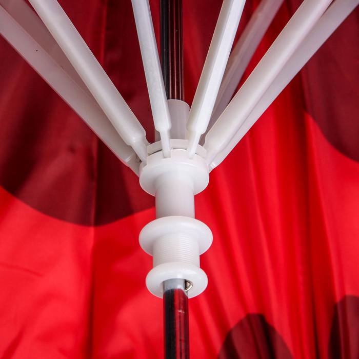 """Зонт детский """"Весёлая божья коровка"""", полуавтоматический, r=35см, цвет красный/чёрный"""