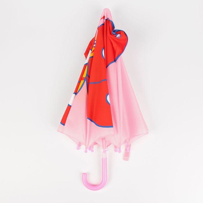 """Зонт детский """"Весёлая бабочка"""", механический, с крыльями, r=35см, цвет розовый"""