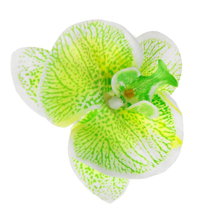 """Зажим """"Орхидея"""", цвет бело-зеленый"""