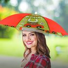 """Зонт-шляпа """"Поедешь на дачу - надень на удачу!"""""""