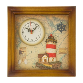 Часы настенные 'Маяк и морская карта' Ош