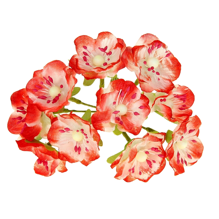 "Декор для творчества набор 10 цветков ""Азалия"" МИКС"