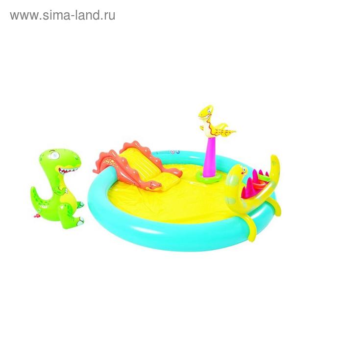 """Игровой центр """"Динозаврик"""" (горка, кольца, динозаврик-распылитель, динозаврик-кольцеброс, 3 кольца)"""