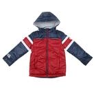 """Куртка для мальчика """"Дукати"""" рост 140 (68) Синий/красный"""