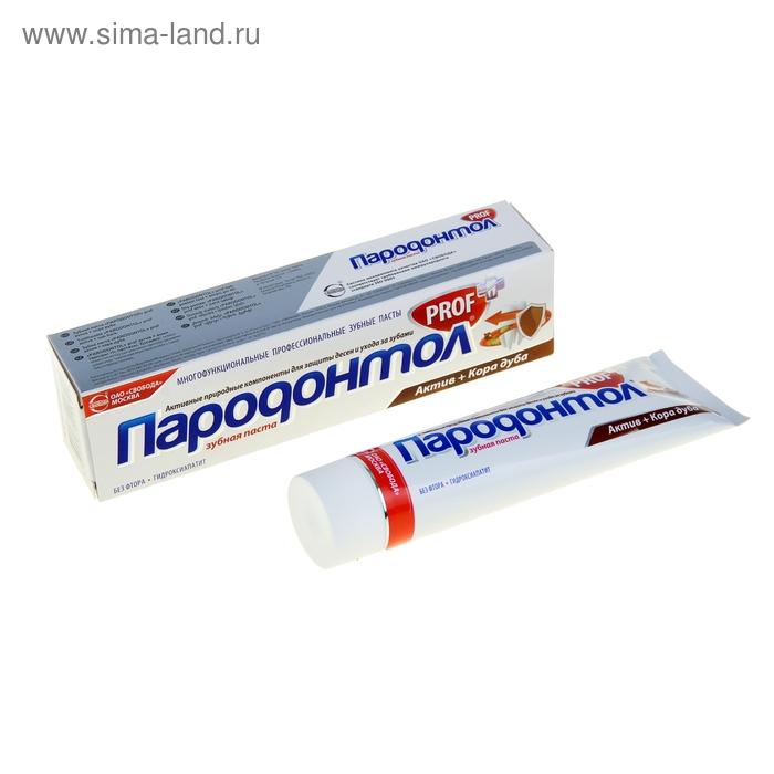 """Зубная паста """"Пародонтол"""" prof актив+кора дуба, в тубе, 134 г"""