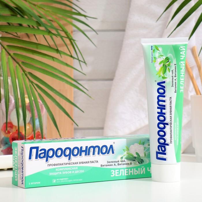 """Зубная паста """"Пародонтол"""" с экстрактом зеленого чая, фтором и витаминами А и Е, в тубе, 134 г"""