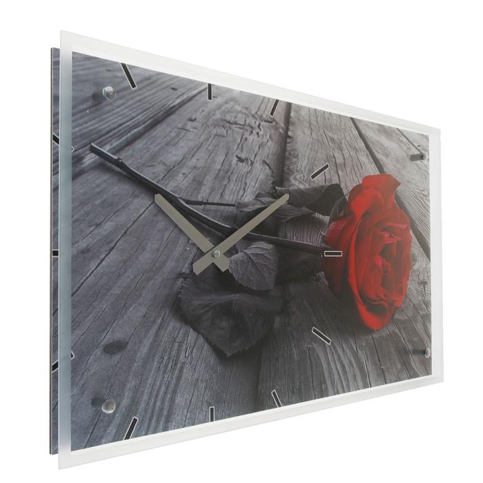"Часы настенные прямоугольные ""Роза"", 35х60 см"
