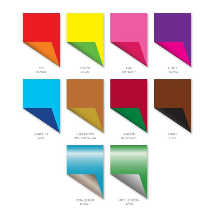 Бумага цветная двухсторонняя B5, 10 листoв, 20 цветов Erich Krause, мелованная - фото 537603687