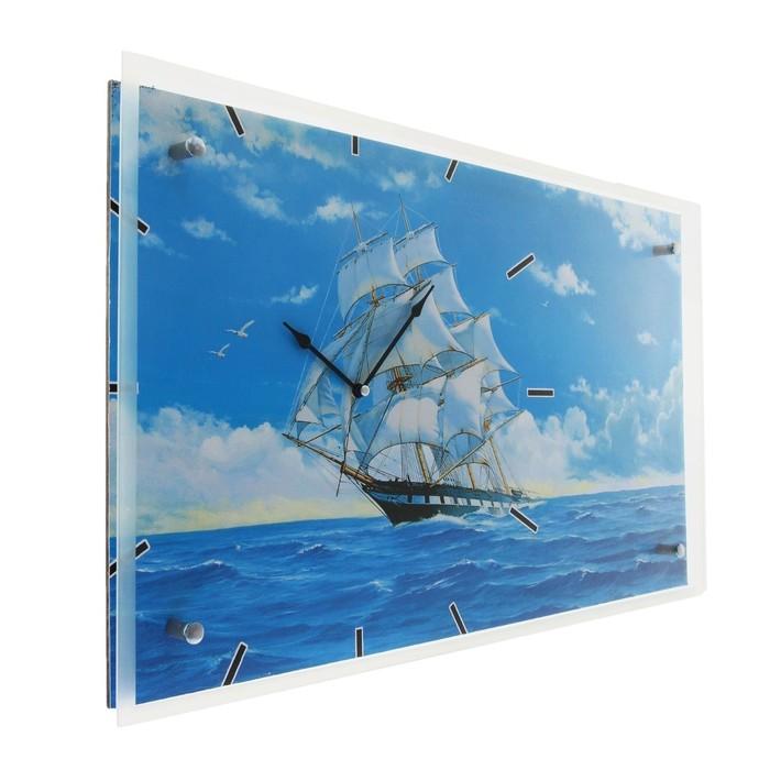 """Часы настенные прямоугольные """"Корабль"""", 35х60 см"""