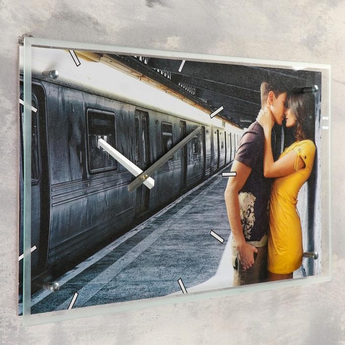 "Часы настенные прямоугольные ""Влюбленная пара"", 35х60 см"