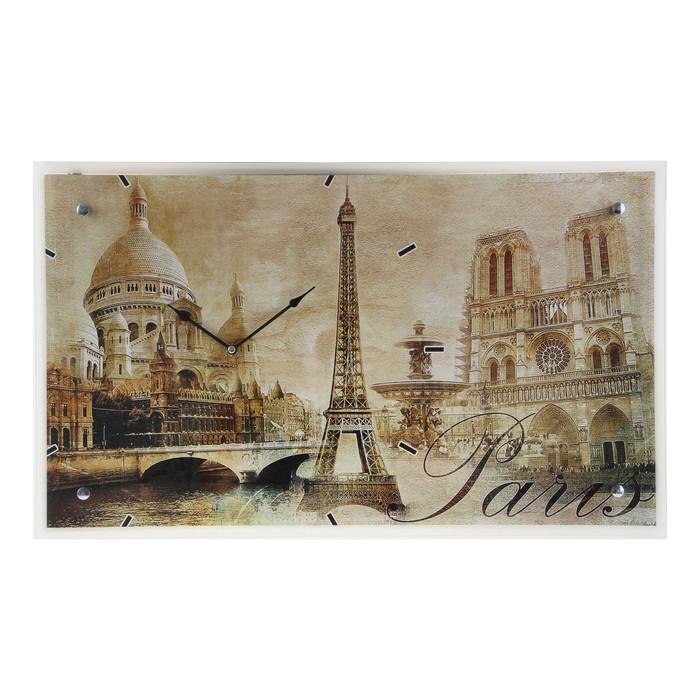 """Часы настенные прямоугольные """"Paris"""", 35х60 см"""