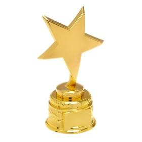 Награда звезда под нанесение, золотая подставка, 16 х 9,3 х 6,5 см