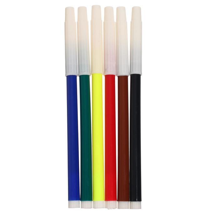 Фломастеры Машинка, 6 цветов, невентилируемый колпачок