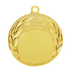 Медаль под нанесение, золото, d=4 см