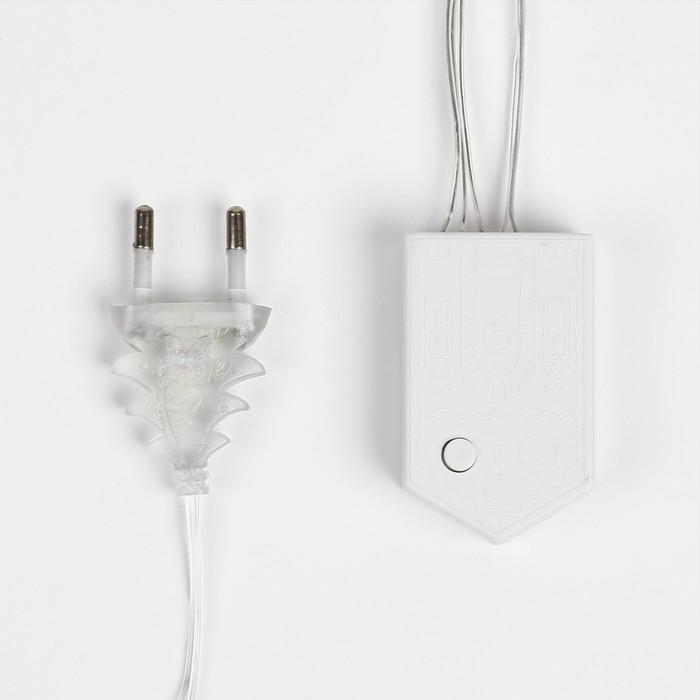 """БАХРОМА, Ш:2 м, В:1.5 м, """"Сердце"""" Н.С. LED-124-220V, фиксинг, Т/БЕЛЫЙ"""