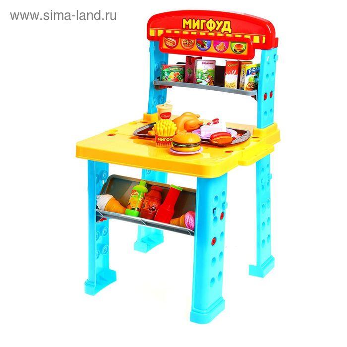 """Игровой модуль """"Мигфуд"""", 21 предмет, 2 варианта сборки, БОНУС - аксессуары для игры, высота 70 см"""