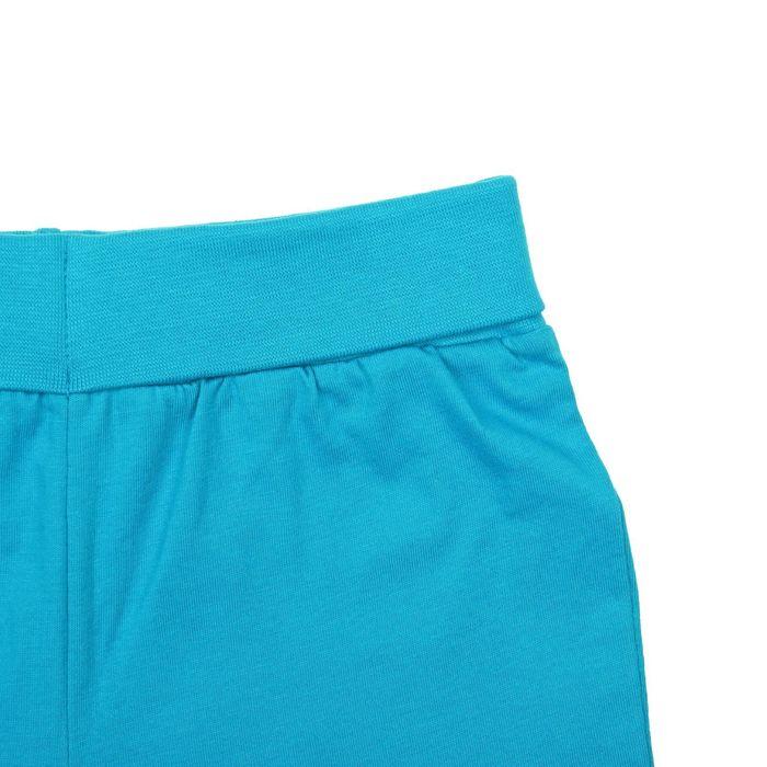 Комплект для мальчика (футболка+шорты), рост 80 см (12 мес), цвет бирюзовый/экрю Н011