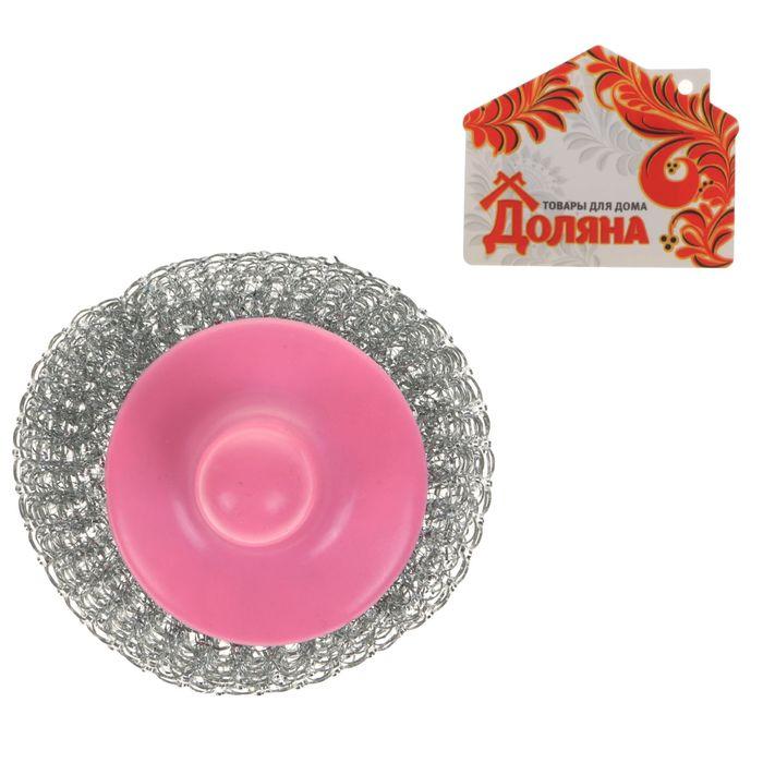 """Губка для мытья посуды """"Бублик"""", 22 гр, цвет МИКС"""