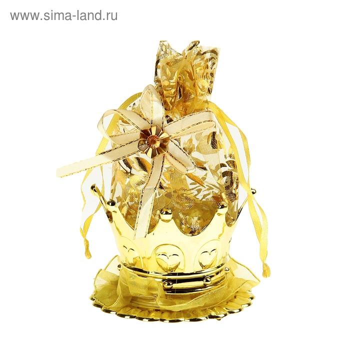 """Бонбоньерка """"Корона"""", цвет золото"""