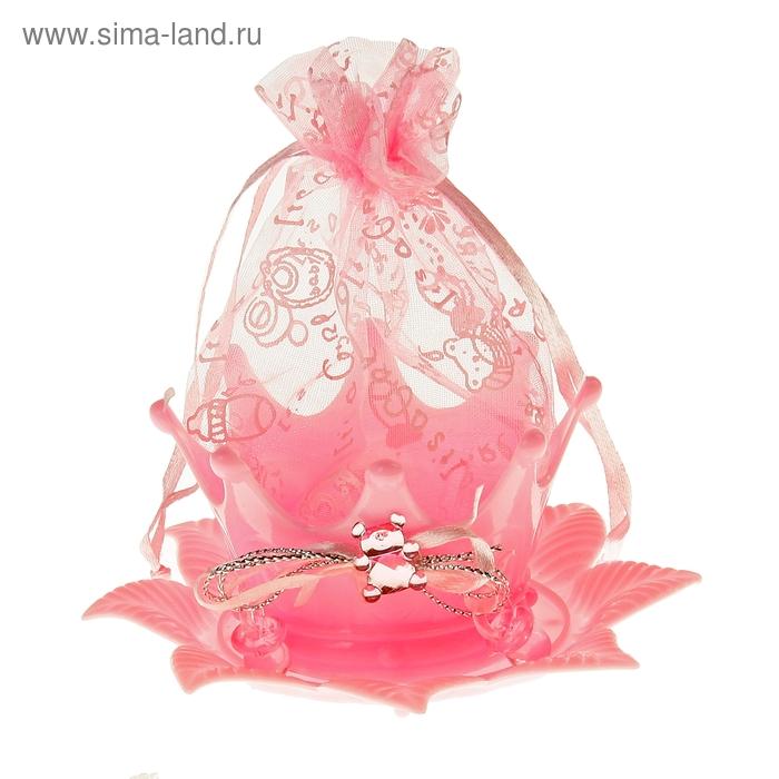 """Бонбоньерка """"Цветок"""", цвет розовый"""