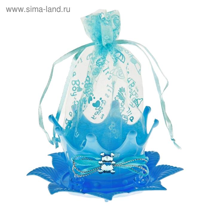 "Бонбоньерка ""Цветок"", цвет голубой"
