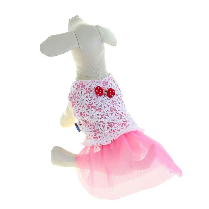 """Платье """"Нежность"""", размер XL, розовое (длина спинки - 42 см, объем груди - 50 см)"""