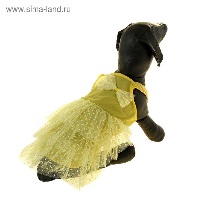 """Сарафан """"Кармен"""", размер М, желтый (длина спинки - 30 см, объем груди - 46 см)"""