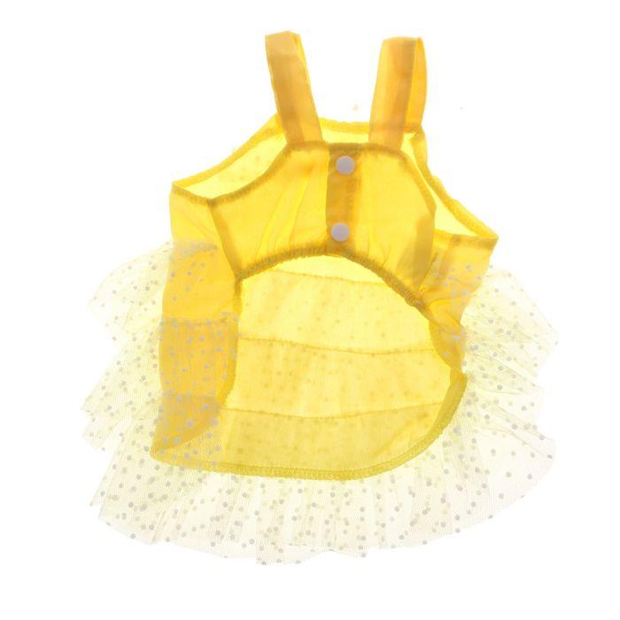 """Сарафан """"Кармен"""", размер XS, желтый (длина спинки - 20 см, объем груди - 36 см)"""