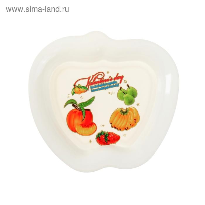 "Набор тарелок фигурных 6 шт 15х14 см ""Яблочко"", цвета МИКС"