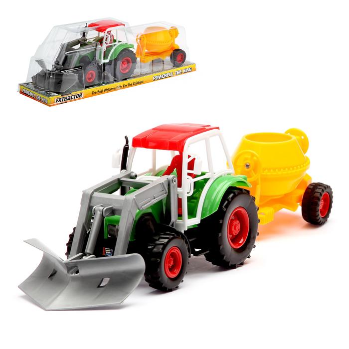 Трактор «Строитель» с бетономешалкой, МИКС