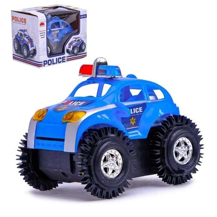 """Машина-перевертыш """"Полиция"""", работает от батареек"""