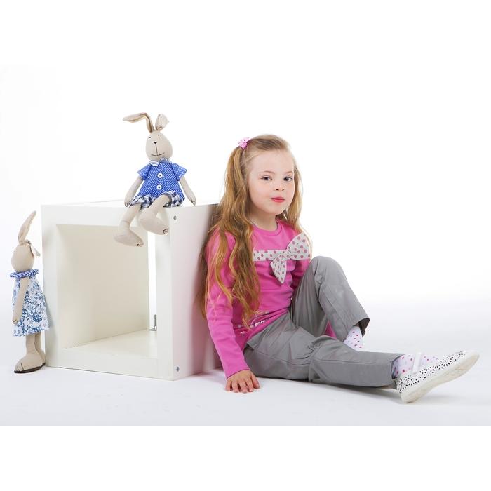 Комплект для девочки: кофта с бантом в горошек, штанишки, рост 110-116 см (5-6л.), цвет микс 9199CC1659