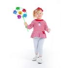 Комплект для девочки: кофта с баской в полоску, легинсы, рост 74-80 см (9-12 мес.), цвет микс 9001IC1727
