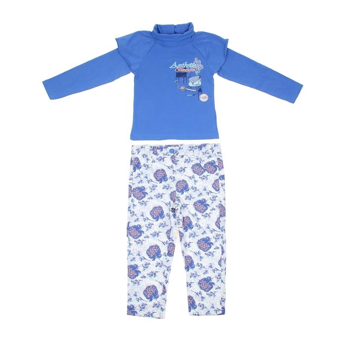 """Комплект для девочки """"Весенний букет"""": кофта, штанишки, рост 98-104 см (3-4г.) 9199CC1573"""
