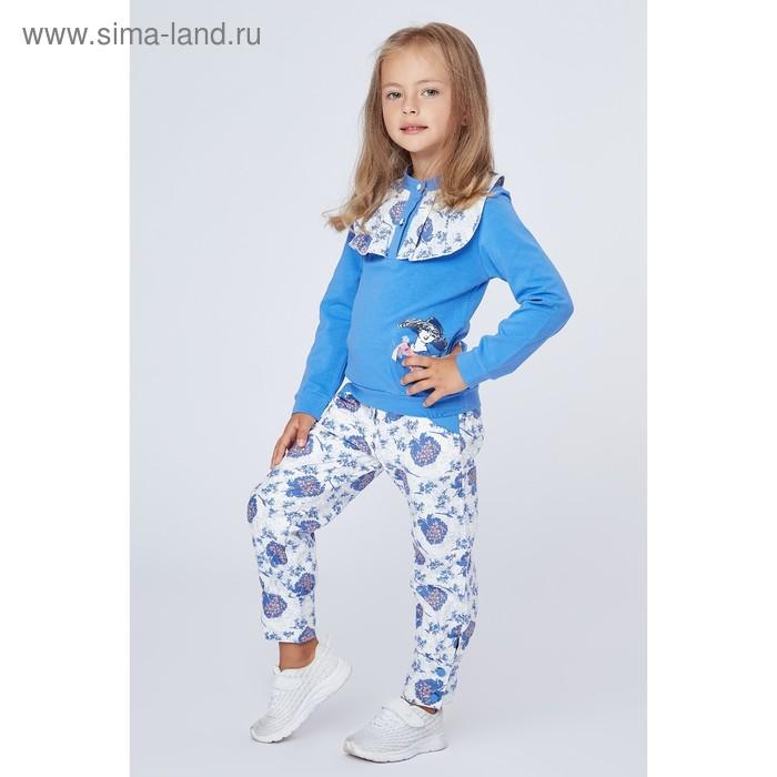 """Комплект для девочки """"Дама в шляпке"""": кофта, штанишки, рост 98-104 см (3-4г.) 9199CC1574"""