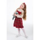 """Комплект для девочки """"Милашка-кукла"""": кофта, юбка в клетку, рост 110-116 см (5-6л..), цвет микс 9077CE1501"""