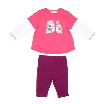 """Комплект для девочки """"Совы"""": кофта, штанишки, рост 74-80 см (9-12 мес.) 9122NC0383"""