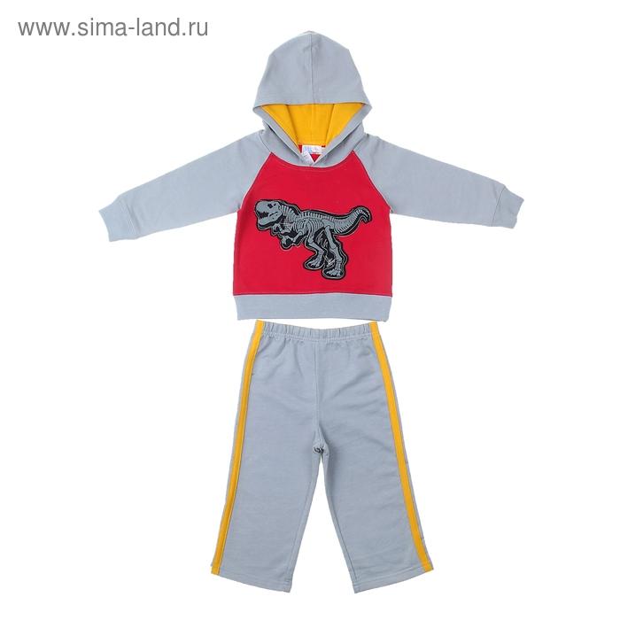 """Комплект для мальчика """"Динозавр"""": кофта, брюки, рост 80-86 см (12-18 мес.), цвет микс 9122ID0305"""