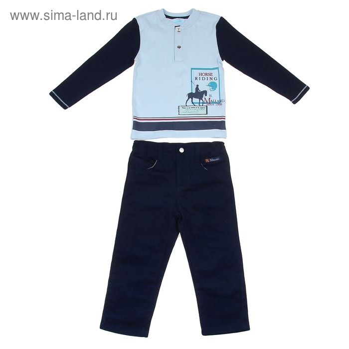 """Комплект для мальчика """"Конный спорт"""": кофта, брюки, рост 98-104 см (3-4г.), цвет микс 9199CD1406"""