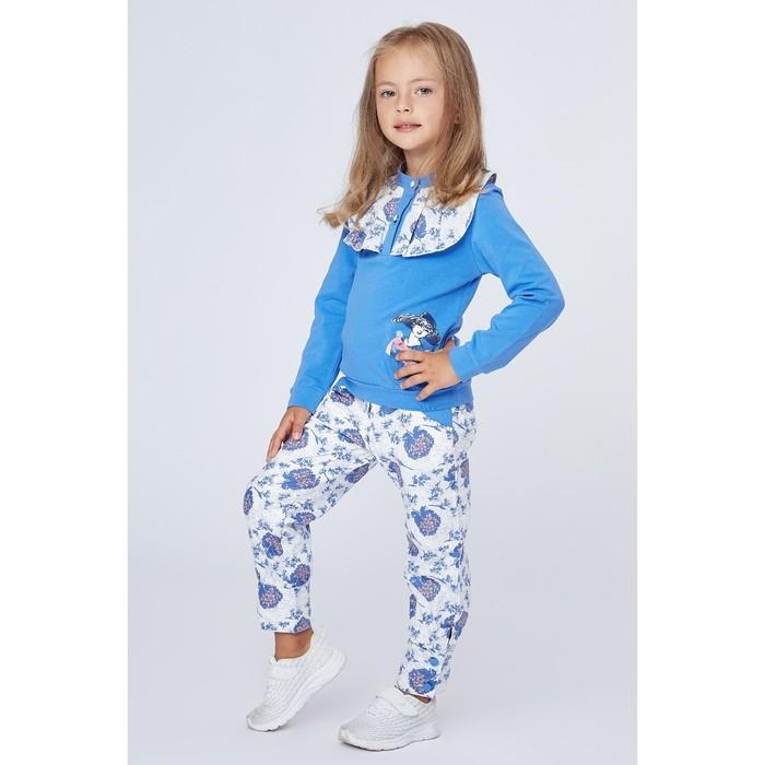 """Комплект для девочки """"Дама в шляпке"""": кофта, штанишки, рост 110-116 см (5-6л.) 9199CC1574"""