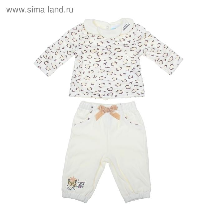 "Комплект для девочки ""Леопард"": кофта, штанишки, рост 62-68 см (3-6 мес.) 9199NC1273"
