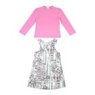 """Комплект для девочки """"Цветочный узор"""": кофта, платье, рост 104-110 см (4-5л.) 9199CF1303"""