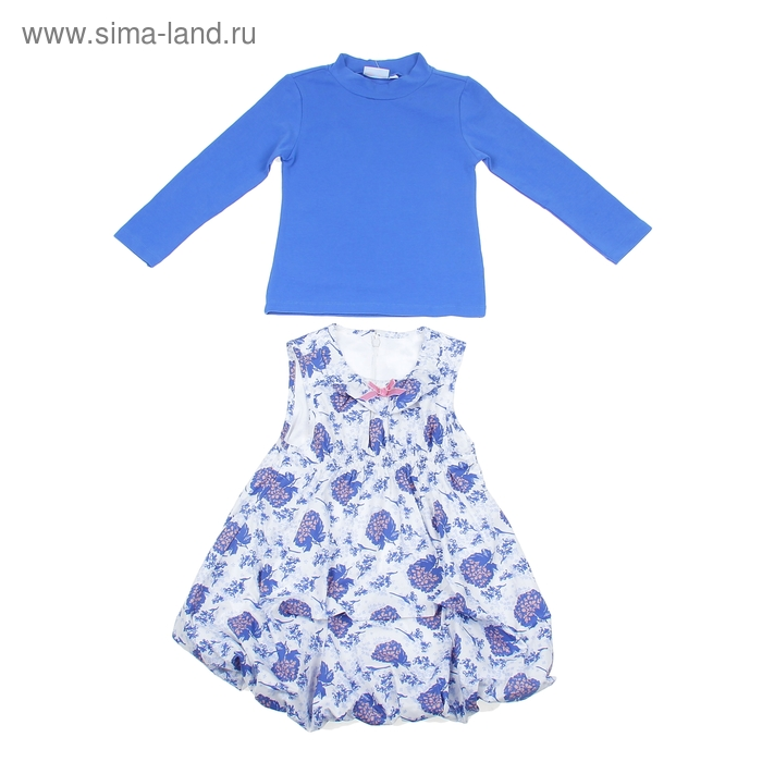 """Комплект для девочки """"Весенние цветы"""": кофта, платье, рост 104-110 см (4-5л.) 9199CF1575"""