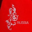 """Колпак для бани  шапка """"Russia"""" красная - фото 1396590"""