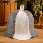 """Колпак для бани  шапка """"Колокольчик"""", войлок, комбинированная"""