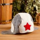 """Колпак для бани  шапка """"Колпак для бани  шапка танкиста"""", войлок, комбинированная"""