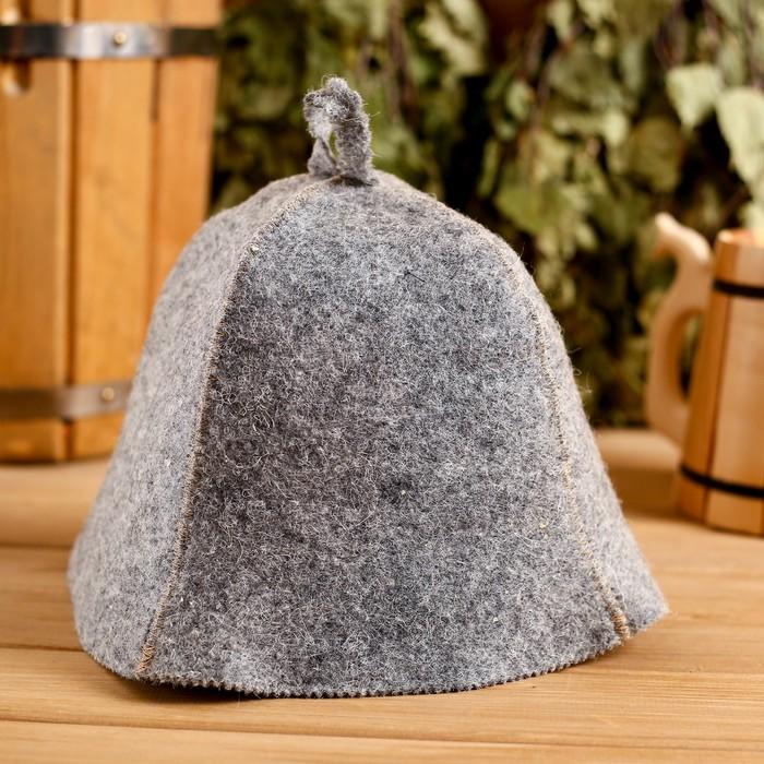Банная шапка «Классическая», серая