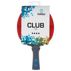 Ракетка для настольного тенниса Torres Club 4, для тренировок, накладка 2,0 мм, коническая ручка