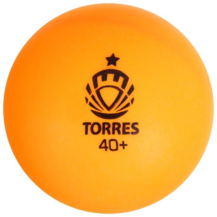 Мяч для настольного тенниса Torres Training, 1 звезда, набор 6 штук, цвет оранжевый
